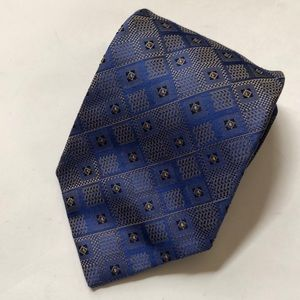 XMI PLATINUM 100% Silk Blue Tie Stunning